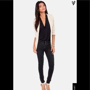 BLANK NYC SPRAY ON INSTAGLAM STUDDED BLACK JEANS